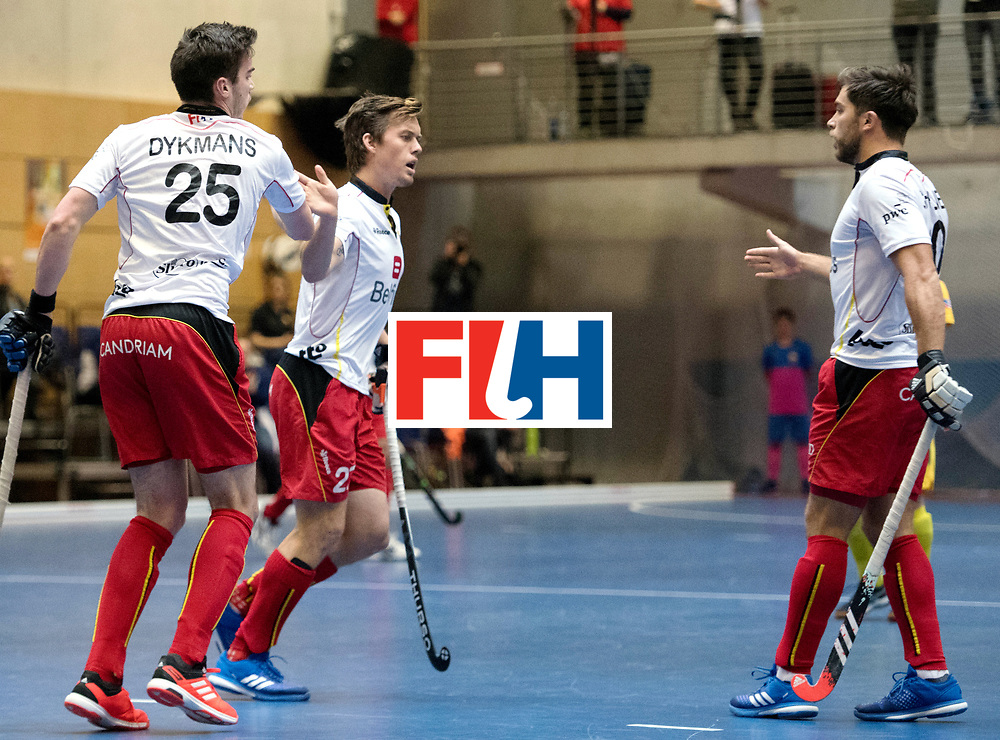 BERLIN - Indoor Hockey World Cup<br /> South Africa - Belgium<br /> foto: <br /> WORLDSPORTPICS COPYRIGHT FRANK UIJLENBROEK