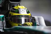 February 21, 2013 - Barcelona Spain. Nico Rosberg, Mercedes GP Petronas F1 Team during pre-season testing from Circuit de Catalunya.