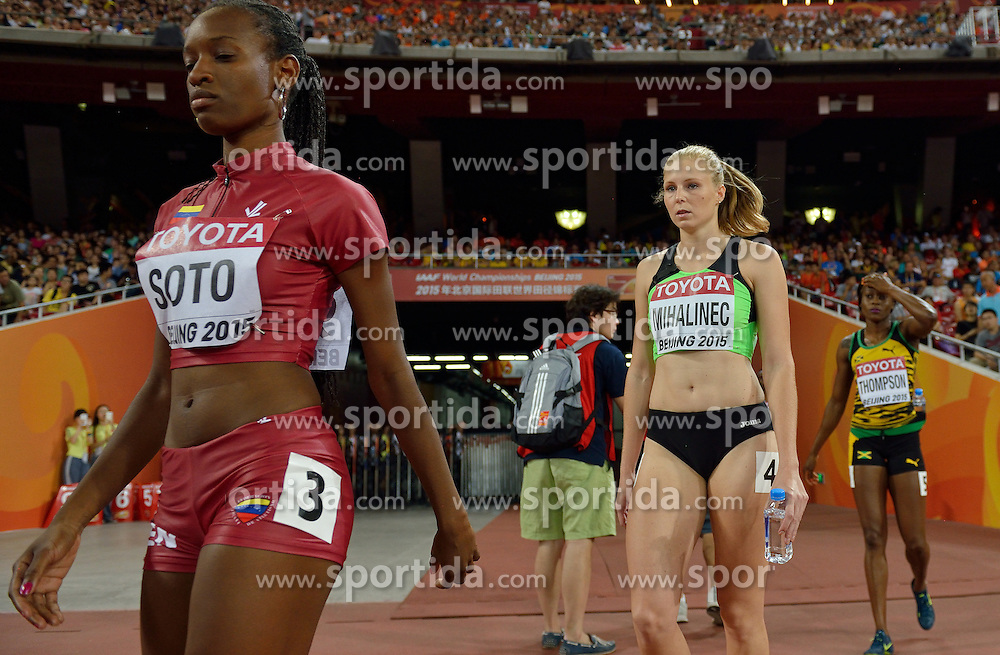 26-08-2015 CHN: IAAF World Championships Athletics day 5, Beijing<br /> Maja Mihalinec SLO (R) on the 200 m<br /> Photo by Ronald Hoogendoorn / Sportida