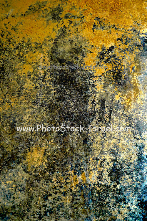 Yellow, black, brown and blue Abstract background