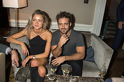 SPENCER MATTHEWS and CATHY LINTIN at the Tatler Little Black Book Party at Home House Member's Club, Portman Square, London supported by CARAT on 11th November 2015.