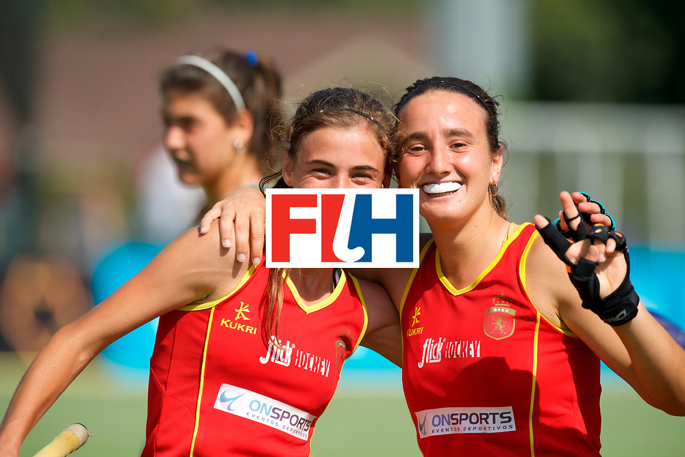 SANTIAGO - 2016 8th Women's Hockey Junior World Cup<br /> ESP v ENG (QF)<br /> foto: SPAIN celebrations.<br /> FFU PRESS AGENCY COPYRIGHT FRANK UIJLENBROEK