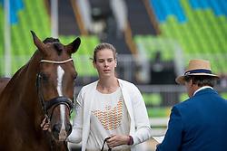 Verwimp Jorinde, BEL, Tiamo<br /> Horse Inspection Dressage<br /> Olympic Games Rio 2016<br /> © Hippo Foto - Dirk Caremans<br /> 08/08/16