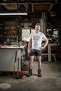 Actor Will Hall models for Stubbies workwear in support of Movember.<br />