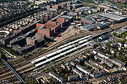 Nederland, Overijssel, Zwolle, 03-10-2010; station Zwolle, belangrijk  spoorwegknooppunten. In het stationsgebied kantorenpark (business park Hanzeland)..Railway station, important railway junction. Station area with business park .luchtfoto (toeslag), aerial photo (additional fee required).foto/photo Siebe Swart