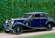 Vintage Rolls Royce car after restoration at Ashton Keynes Vintage Restorations in Wiltshire, UK