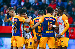 03.04.2019, Merkur Arena, Graz, AUT, OeFB Uniqa Cup, GAK vs Red Bull Salzburg, Halbfinale, im Bild Jubel bei Salzburg // during the halffinal match of the ÖFB Uniqa Cup between GAK and Red Bull Salzburg at the Merkur Arena in Graz, Austria on 2019/04/03. EXPA Pictures © 2019, PhotoCredit: EXPA/ Erwin Scheriau