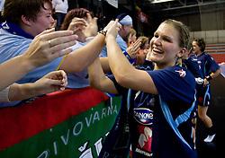Neli Irman at Women European Championships Qualifying handball match between National Teams of Slovenia and Belarus, on October 17, 2009, in Kodeljevo, Ljubljana.  (Photo by Vid Ponikvar / Sportida)