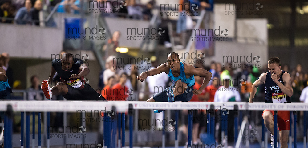 Damien Warner competes at the 2013 National Track League meet in Toronto Ontario, Tuesday, June 11, 2013.<br /> Mundo Sport Images/ Geoff Robins