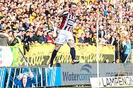 19-05-2016 VOETBAL:NAC BREDA - WILLEM II:BREDA<br /> Guus Hupperts van Willem II viert zijn doelpunt<br /> <br /> Foto:  Geert van Erven