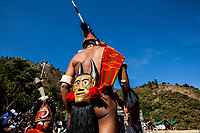Tribes from across the region gather for the Hornbill Festival in Nagaland, India. The festival takes place over 7 days the first week of December, and is a showcase of the various histories and cultures of the region.