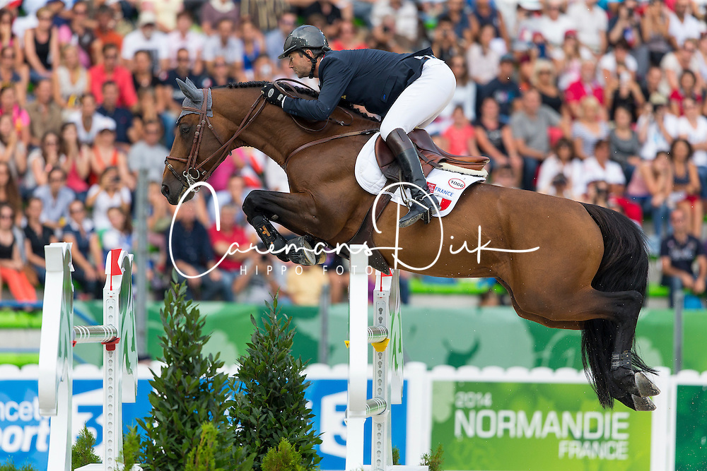 Patrice Delaveau, (FRA), Orient Express HDC - World Champions, - Second Round Team Competition - Alltech FEI World Equestrian Games&trade; 2014 - Normandy, France.<br /> &copy; Hippo Foto Team - Leanjo De Koster<br /> 25/06/14