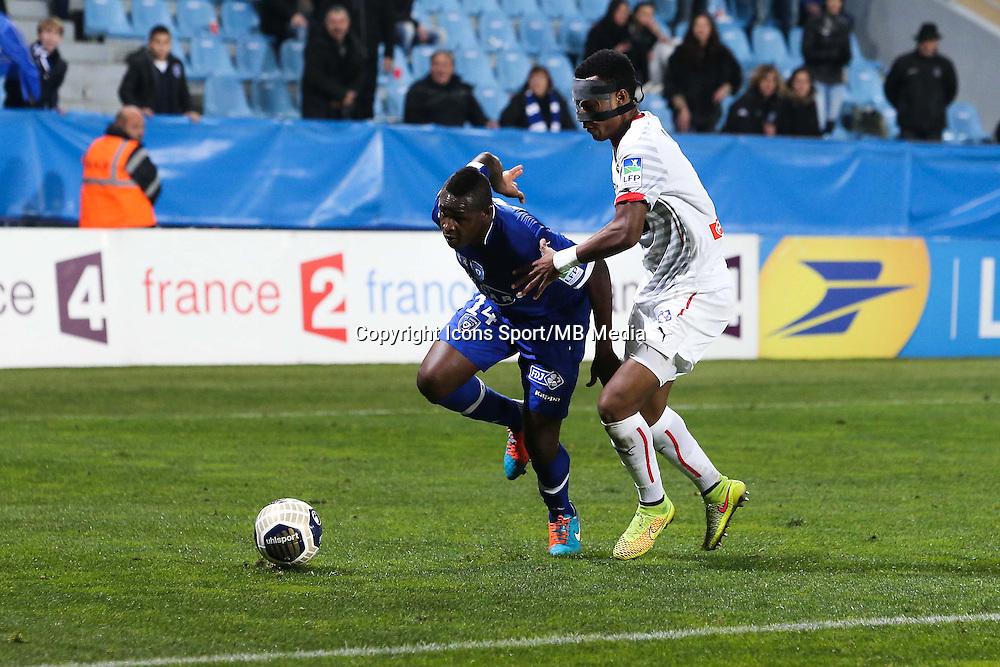 Famoussa KONE / Edson MEXER - 13.01.2015 - Bastia / Rennes - 1/4Finale Coupe de la Ligue -<br />Photo : Michel Maestracci / Icon Sport
