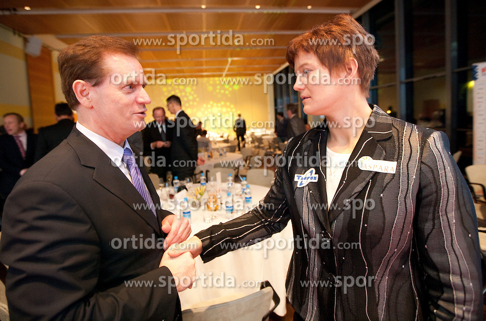 Boris Dular and Martina Ratej during the Slovenia's Athlete of the year award ceremony by Slovenian Athletics Federation AZS, on November 12, 2008 in Hotel Mons, Ljubljana, Slovenia.(Photo By Vid Ponikvar / Sportida.com) , on November 12, 2010.