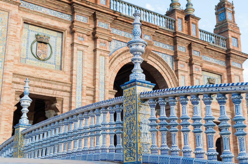 Ceramic balaustrade in Plaza España (Sevilla, Spain)