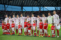 30.05.2014, Tivoli Stadion, Innsbruck, AUT, Fussball Testspiel, Oesterreich vs Island, im Bild Mannschaftsfoto Österreich, (v.l.) Marko Arnautovic, Marcel Sabitzer, Martin Hinteregger, Aleksandar Dragovic, Stefan Ilsanker, Christoph Leitgeb, Florian Klein, Zlatko Junuzovic, Markus Suttner, Heinz Lindner und Marc Janko, alle (AUT) // Austrians Teamphoto f.l. Marko Arnautovic Marcel Sabitzer Martin Hinteregger Aleksandar Dragovic Stefan Ilsanker Christoph Leitgeb Florian Klein Zlatko Junuzovic Markus Suttner Heinz Lindner and Marc Janko during the International Friendly between Austria and Iceland at the Tivoli Stadion in Innsbruck, Austria on 2014/05/30. EXPA Pictures © 2014, PhotoCredit: EXPA/ Johann Groder