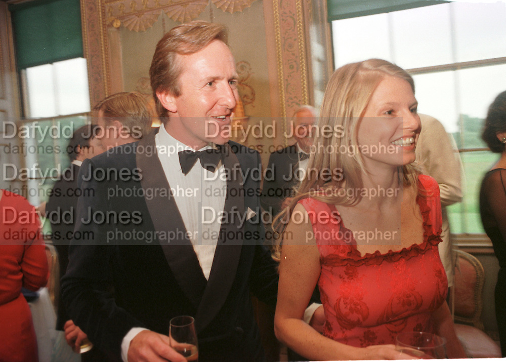 Ben Holland -Martin and Candida Bond. Syon House dinner in aid of  the Countryside Alliance. 4 June 1998. © Copyright Photograph by Dafydd Jones 66 Stockwell Park Rd. London SW9 0DA Tel 020 7733 0108 www.dafjones.com
