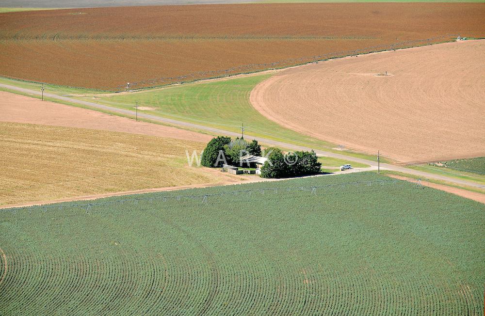 Farmland near Dalhart, Texas.  Sept 2013