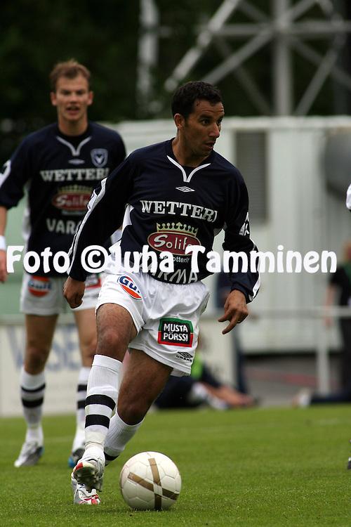 11.06.2007, Hietalahti, Vaasa, Finland..Veikkausliiga 2007 - Finnish League 2007.Vaasan Palloseura - AC Oulu.Yacine Slatni - AC Oulu.©Juha Tamminen.....ARK:k