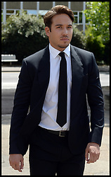 Image ©Licensed to i-Images Picture Agency. 27/06/2014. London, United Kingdom. TOWIE star James Lock arrives at Romford Magistrates Court, drug possession. Picture by Andrew Parsons / i-Images