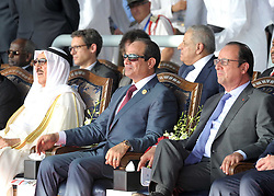 06.08.2014, Sueskanal, EGY, Sueskanal Kanal Erweiterung, im Bild Feierlichkieiten zur Sueskanal Erweiterung // Egyptian President Abdel Fattah al-Sisi attends the inauguration ceremony of the new Suez Canal, in Ismailia, Egypt, August 6, 2015. Egypt staged a show of international support on Thursday as it inaugurated a major extension of the Suez Canal which President Abdel Fattah al-Sisi hopes will power an economic turnaround in the Arab world's most populous country. Photo by Stringer, Egypt on 2014/08/06. EXPA Pictures © 2015, PhotoCredit: EXPA/ APAimages/ Stringer<br /> <br /> *****ATTENTION - for AUT, GER, SUI, ITA, POL, CRO, SRB only*****