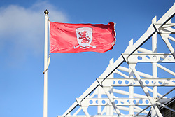 Flag blows at Middlesbrough's Riverside Football Stadium before the Sky Bet Championship match at The Riverside Stadium, Middlesbrough.