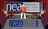 President elect Dennis Van Roekel speaks at the 146th annual NEA annual meeting at the Walter E. Washington Convention Center July 6,2008. (Scott Iskowitz/ RA TODAY) 2008