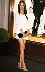 © Licensed to London News Pictures. 14/09/2013. LONDON. UK.Zoe Saldana, Longchamp - Flagship Store Launch Party, Regent Street, London UK, 14 September 2013. Photo credit : Brett D. Cove/Piqtured/LNP