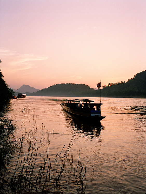 Ferry boat on the Mekong River.
