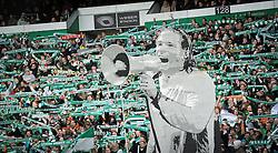 31.03.2012, Weserstadion, Bremen, GER, 1. FBL, SV Werder Bremen vs 1. FSV Mainz 05, 28. Spieltag, im Bild Choreografie der Werder Fans. Tim WIESE, Torwart in Uebergroesse auf Pappe. // during the German Bundesliga Match, 28th Round between SV Werder Bremen and 1. FSV Mainz 05 at the Weserstadium, Bremen, Germany on 2012/03/31. EXPA Pictures © 2012, PhotoCredit: EXPA/ Eibner/ Stefan Schmidbauer..***** ATTENTION - OUT OF GER *****