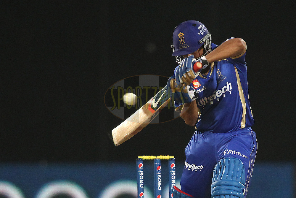 Karun Nair of the Rajasthan Royals runs the ball down to third man during match 23 of the Pepsi Indian Premier League Season 2014 between the Delhi Daredevils and the Rajasthan Royals held at the Feroze Shah Kotla cricket stadium, Delhi, India on the 3rd May  2014<br /> <br /> Photo by Shaun Roy / IPL / SPORTZPICS<br /> <br /> <br /> <br /> Image use subject to terms and conditions which can be found here:  http://sportzpics.photoshelter.com/gallery/Pepsi-IPL-Image-terms-and-conditions/G00004VW1IVJ.gB0/C0000TScjhBM6ikg
