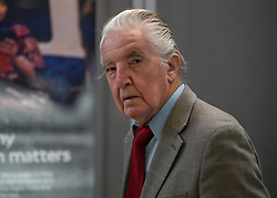 © Licensed to London News Pictures. 21/10/2019. London, UK. Labour MP DENNIS SKINNER is seen in Westminster, London. Last week Parliament sat on a Saturday for the first time since 1982, but failed to vote on Boris Johnson's new Brexit deal. Photo credit: Ben Cawthra/LNP