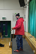 "Stand-up muslim comedian Humza Arshad in Whitefield school in North London (Great Britain) works alongside Scotland Yard with a show called ""Think for yourself"" to help fight radicalization."