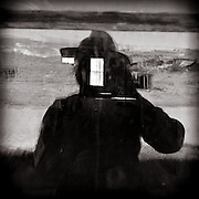 Self portrait in Bodie window