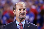 Former coach and present day sports analyst Bill Cowher watches from the sideline during the Buffalo Bills 2016 NFL week 2 regular season football game against the against the New York Jets on Thursday, Sept. 15, 2016 in Orchard Park, N.Y. The Jets won the game 37-31. (©Paul Anthony Spinelli)