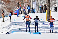 DUBOIS Thomas FRA B1 Guide: SAUVAGE Bastien, ADICOFF Jake USA B3 Guide: KESSELHEIM Sawyer competing in the ParaSkiDeFond, Para Nordic 10km during the PyeongChang2018 Winter Paralympic Games, South Korea.