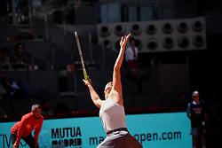 May 4, 2019 - Madrid, Spain - Aryna Sabalenka of Belarus in action against Svetlana Kuznetsova of Russia during day one of the Mutua Madrid Open at La Caja Magica in Madrid on 4th May, 2019. (Credit Image: © Juan Carlos Lucas/NurPhoto via ZUMA Press)