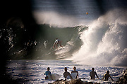 June 3rd, 2011: Surfer pulls into the barrel at Snapper Rocks on the Gold Coast, Queensland, Australia. Photo by Matt Roberts
