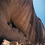 "Anasazi architecture,""White House"", one of the many ruins in Canyon de Chelly National Monuement.."