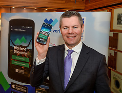 Finance Secretary Derek MacKay MSP launched the brand new A9 app, which allows visitors to see the culture and history surrounding Scotland's iconic route to the Highlands.<br /> <br /> © Dave Johnston / EEm