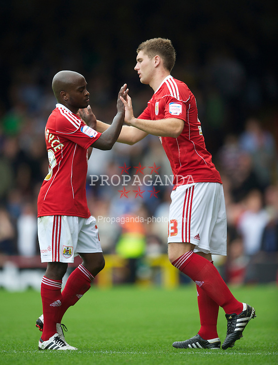 BRISTOL, ENGLAND - Saturday, August 7, 2010: Bristol City's Sam Vokes comes on to make his debut against Millwall during the League Championship match at Ashton Gate. (Pic by: David Rawcliffe/Propaganda)
