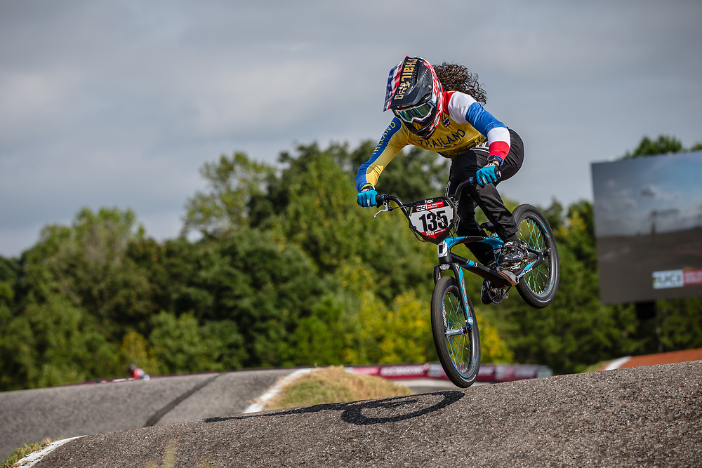 #135 (CARR Amanda) THA Avent Bombshell 100% at Round 8 of the 2019 UCI BMX Supercross World Cup in Rock Hill, USA