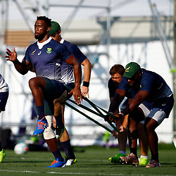 SHIZUOKA, JAPAN - SEPTEMBER 30: Siya Kolisi (c) during the South African national rugby team training session at Nexta Training Field on September 30, 2019 in Shizuoka, Japan. (Photo by Steve Haag/Gallo Images)