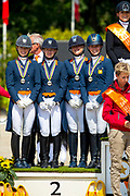 Team The Netherlands, Silver at the European Championships Young Riders<br /> European Championships Dressage 2017<br /> © DigiShots