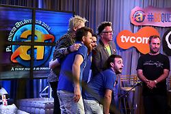 The Offspring no estúdio da TV COM durante o Planeta Atlântida 2014/RS, que acontece nos dias 07 e 08 de fevereiro de 2014, na SABA, em Atlântida. FOTO: Jefferson Bernardes/ Agência Preview