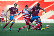 Doncaster Rovers Forward Alfie Beestin (22) during the The FA Cup match between Doncaster Rovers and Scunthorpe United at the Keepmoat Stadium, Doncaster, England on 3 December 2017. Photo by Craig Zadoroznyj.
