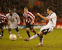 Photo: Aidan Ellis.<br /> Sheffield United v Swansea City. The FA Cup. 06/01/2007.<br /> Swansea's Rory Fallon makes it three from the penalty spot