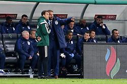 Interim England Manager Gareth Southgate argues with the fourth official - Mandatory by-line: Robbie Stephenson/JMP - 11/10/2016 - FOOTBALL - RSC Stozice - Ljubljana, England - Slovenia v England - World Cup European Qualifier