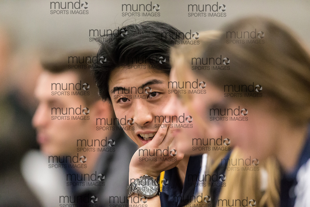 Windsor, Ontario ---2015-03-12--- Daniel liu at the 2015 CIS Track and Field Championships in Windsor, Ontario, March 12, 2015.<br /> GEOFF ROBINS/ Mundo Sport Images