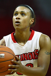 30 December 2010: Shala Jackson at the free line during an NCAA Womens basketball game between the Bradley Braves and the Illinois State Redbirds at Redbird Arena in Normal Illinois.